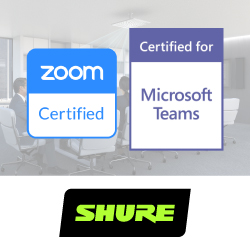 Shure получила сертификацию Zoom Rooms и Microsoft Teams