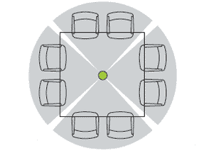 Карта покрытия потолочного массива микрофонов 3