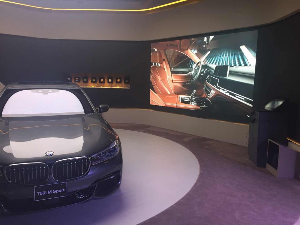 Автомобильное шоу Tokyo BMW, Япония, 2016 год, площадь экрана 7 кв. метров