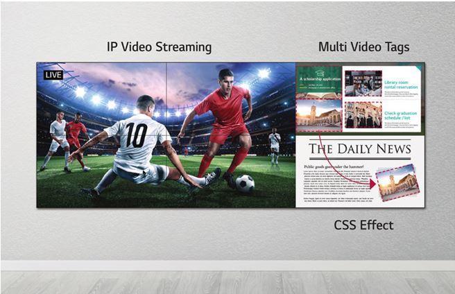 lg 55VH7E - Мощная платформа Smart Signage для создания контента