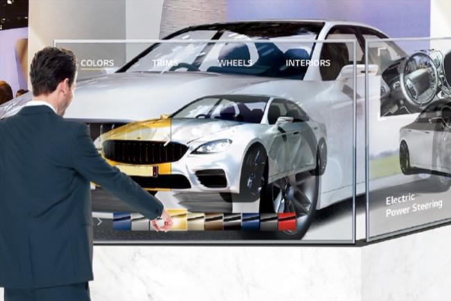 LG 55EW5TF-А, примеры применения, автомобиль