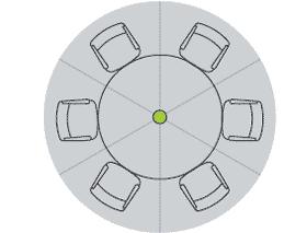 Карта покрытия потолочного массива микрофонов 1